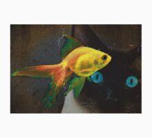 Wishful Thinking - Cat and Goldfish Art by Sharon Cummings Baby Tee