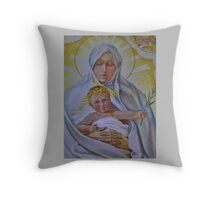 Wall Painting, Italian Chapel Throw Pillow