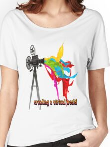 Creating a virtual world Women's Relaxed Fit T-Shirt