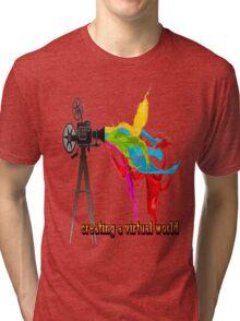 Creating a virtual world Tri-blend T-Shirt