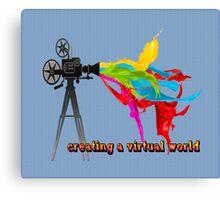 Creating a virtual world Canvas Print