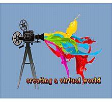 Creating a virtual world Photographic Print