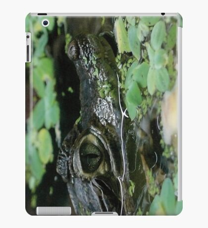 Green crocodile iPad Case/Skin
