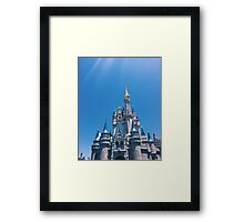Blue Skies and Castle Views Framed Print