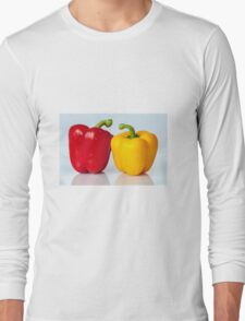 Red and yellow peppers Long Sleeve T-Shirt