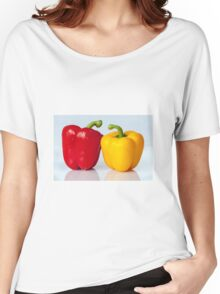 Red and yellow peppers Women's Relaxed Fit T-Shirt