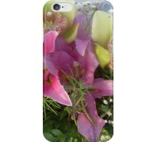 A bouquet of lilies and orchids iPhone Case/Skin