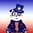 Patriotic Panda - Gradient by Adamzworld