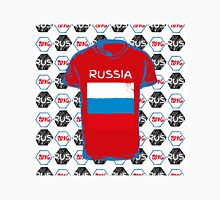 A soccer ball pattern and a Russia flag. Unisex T-Shirt