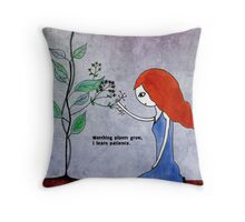 Learning Patience Throw Pillow