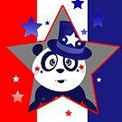 Patriotic Panda - Patriotic Star by Adamzworld