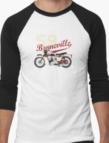 59 TRIUMPH BONNEVILLE Men's Baseball ¾ T-Shirt