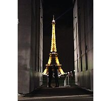 Mystery Parisian Lovers Photographic Print