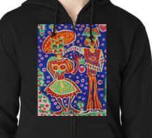 Mrs Cat and Mr Dog Zipped Hoodie