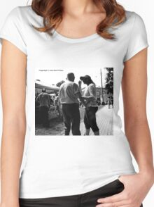 People in black and white Women's Fitted Scoop T-Shirt