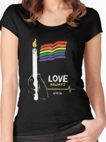 Love Always Women's Fitted Scoop T-Shirt