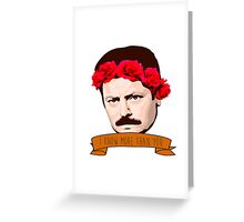 "Ron Swanson - ""I Know More Than You"" Greeting Card"