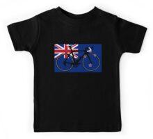 Bike Flag New Zealand (Big - Highlight) Kids Tee