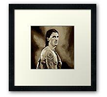 Zlatan Ibrahimovic Sepia Framed Print