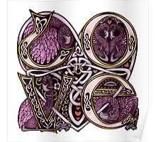 "Celtic ""Love"" Flamingo Design Poster"