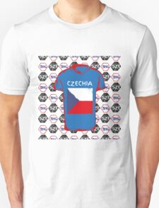 A football ball pattern and a Czech republic flag. T-Shirt