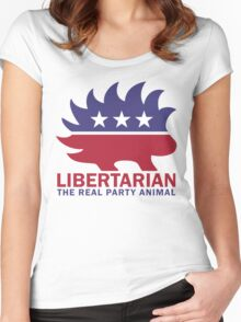 Gary Johnson - The Libertarian Party Animal Women's Fitted Scoop T-Shirt