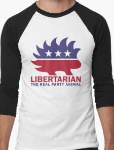 Gary Johnson - The Libertarian Party Animal Men's Baseball ¾ T-Shirt