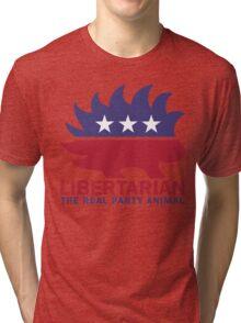 Gary Johnson - The Libertarian Party Animal Tri-blend T-Shirt
