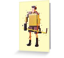 The Pixelized Hockey Player Greeting Card