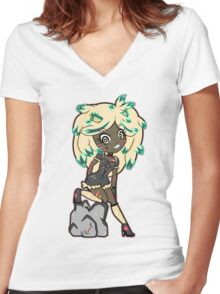 Lionetta by Lolita Tequila  Women's Fitted V-Neck T-Shirt