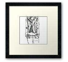 Girl in JD Tee Doodle Framed Print