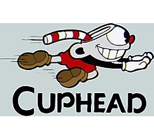 Cuphead with logo Photographic Print