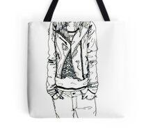 Girl in JD Tee Doodle Tote Bag