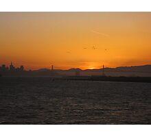 Sun Set Bay Bridge Photographic Print