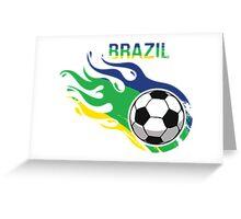 Brazil Brasil Soccer Ball Greeting Card
