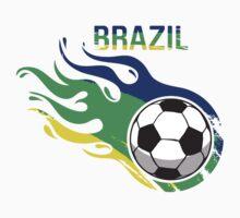 Brazil Brasil Soccer Ball by silvianeto