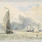Dutch Fishing Boats, Sketches of Boats ,  Johan Barthold Jongkind,  by MotionAge Media