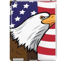 Bald Eagle on American flag background iPad Case/Skin