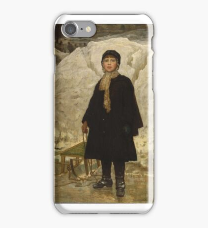 Eastman Johnson (American, ). Portrait of a Child,  iPhone Case/Skin