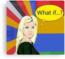 popart portrait inspirational art Canvas Print