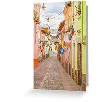 La Ronda Street Quito Ecuador Greeting Card