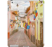 La Ronda Street Quito Ecuador iPad Case/Skin