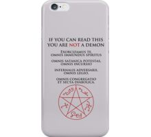 If you can read this you are NOT a demon iPhone Case/Skin