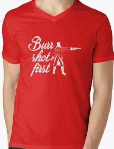 Burr Shot First Mens V-Neck T-Shirt