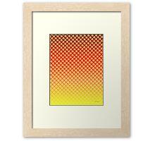 Lemon Flower Sunset Framed Print