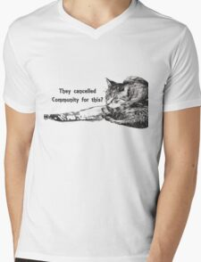 They Cancelled Community For This? Mens V-Neck T-Shirt