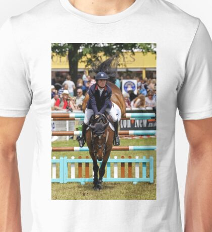 Show Jumping at the 2016 Royal Bath & West Show Unisex T-Shirt