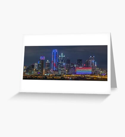 "Dallas ""Orlando Tribute"" Skyline 2016 Greeting Card"