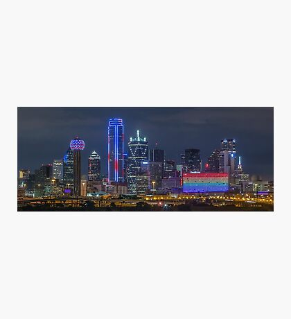 "Dallas ""Orlando Tribute"" Skyline 2016 Photographic Print"