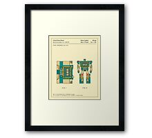 RECONFIGURABLE TOY CASSETTE PATENT (1986) Framed Print